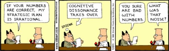 Dilbert: Dissonância Cognitiva