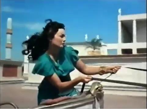 Teodora na corrida de bigas