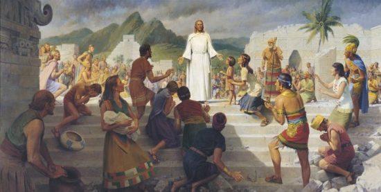 Jesus ensinando aos nefitas.