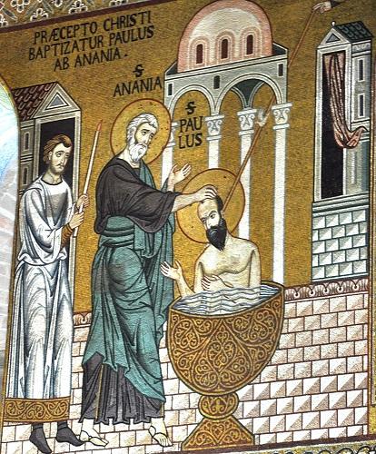 Mosaico do batismo de Paulo de Tarso