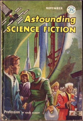 Capa de Astounding Science Fiction, novembro de 1957